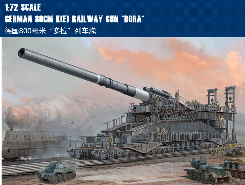 Hobby Boss Models 82911 GERMAN DORA RAILWAY GUN 1:72