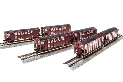 Broadway Limited 3132 N Wabash N&W Class H2A 3-Bay Hopper (6)