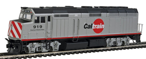 "Walthers 910-19458 HO Caltrain ""County of Santa Clara"" EMD F40PH - SoundTraxx Sound & DCC  #919"