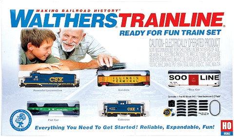 Walthers 931-871 HO CSX Transportation Ready-for-Fun Train Set