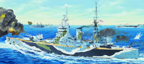 Trumpeter Models 3709 1:200 HMS Rodney British Battleship Plastic Model Kit