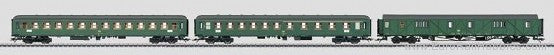 Marklin 43990 HO German Federal Railroad DB Fast Passenger 3Car Set #1 EX