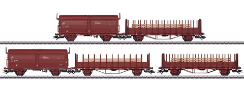 Marklin 47733 HO Swedish State Railways SJ Era III 5-Car Freight Set 3-Rail