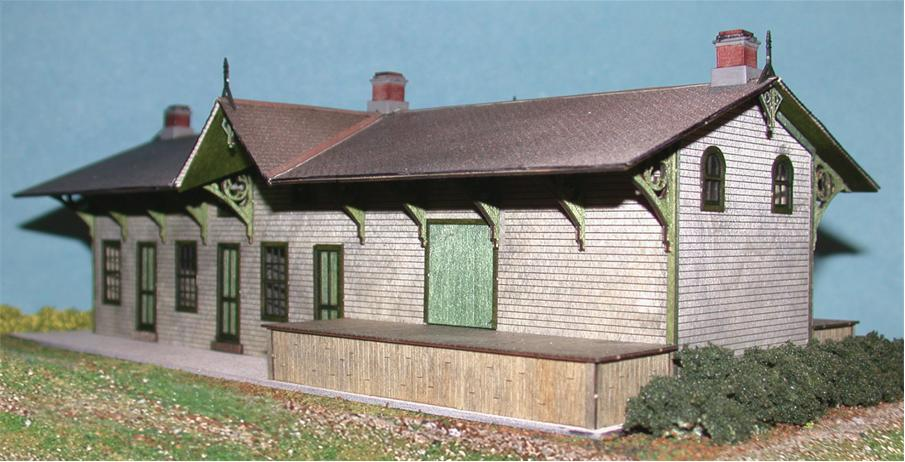 The N Scale Architect 40003 HO Branchville Station Kit - Railway Heritage Models Laser-Cut Wood