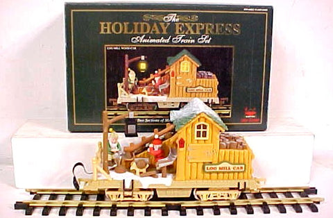 New Bright 380-4 G Holiday Express Log Mill Wood Car