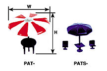 Plastruct 94750 G Umbrella Table