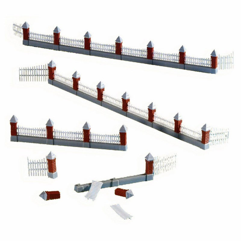Kibri 38630 HO Fence with 3 Double Gates (30 77cm) Wood Paling.