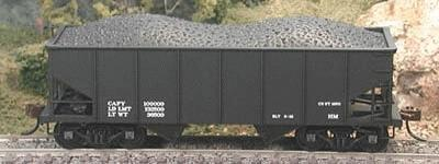 Bowser 56693 HO 55-Ton Gla 2-Bay Hopper Dimensional Data Only