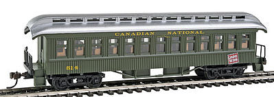 Con-Cor 15635 HO Canadian National 1880s Wood Open-Platform Coach #514