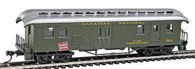 Con-Cor 15712 HO Canadian National 1880s Wood Open-Platform Baggage-RPO #504