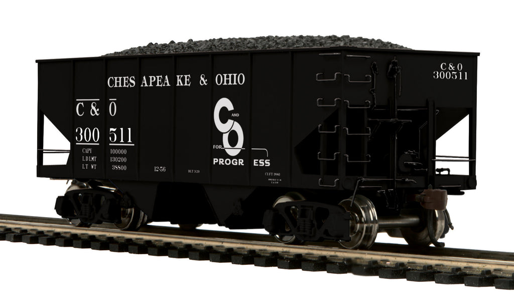 MTH 80-97047 HO Chesapeake & Ohio 55Ton Twin Hopper #300511