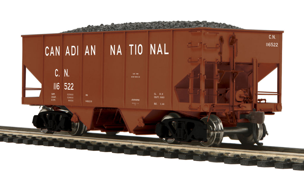 MTH 80-97065 HO Canadian National USRA 55-Ton Steel Twin Hopper Car #116522