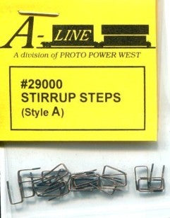 "Proto Power 29000 HO Freight Car Stirrup Steps Style ""A"", Pack of 25"