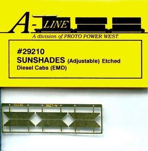 "Proto Power 29210 HO Diesel Cab 5/8"" Sunshades (Pack of 6)"
