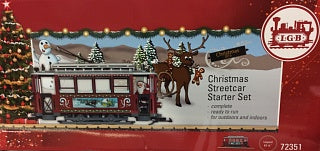 LGB 72351 G Christmas Trolley Starter Train Set