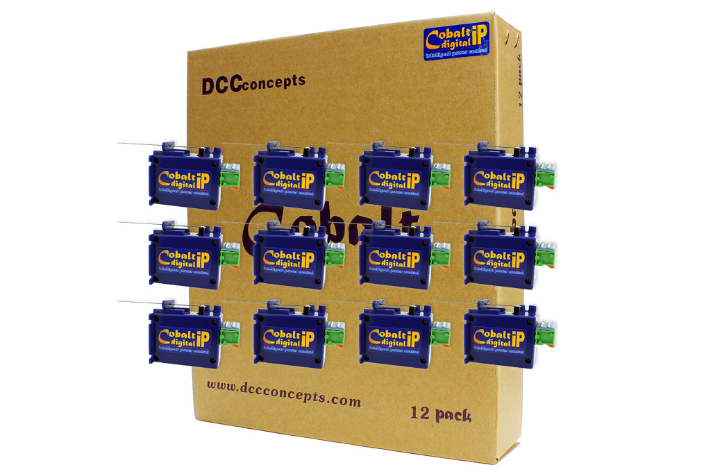 DCC Concepts CB12DIP COBALT ip Digital Turnout Motors (Pack of 12)