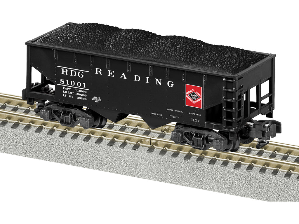 American Flyer -48876 S Scale Reading 2-Bay Offset-Side Hopper w/Load - Ready to Run #81001