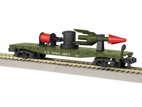 AF 6-48877 S Scale US Army Operating Missile Launch Flatcar - Ready to Run #48877