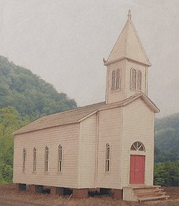 B.T.S. 17232 O Scale Rural Church Craftsman Building Kit