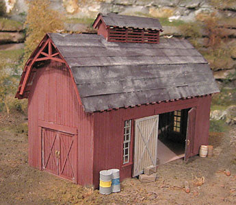 B.T.S. 17420 O Scale Prichards Barn Craftsman Building Kit