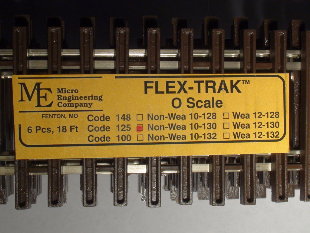 "Micro Engineering 10-130 O Code 125 36"" Non-Weathered Flex-Track (Pack of 6)"