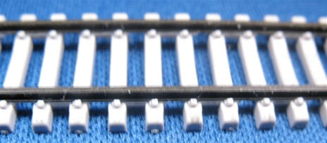 "Micro Engineering 12-125 N Code 55 36"" Concrete Ties Weathered Flex-Track"