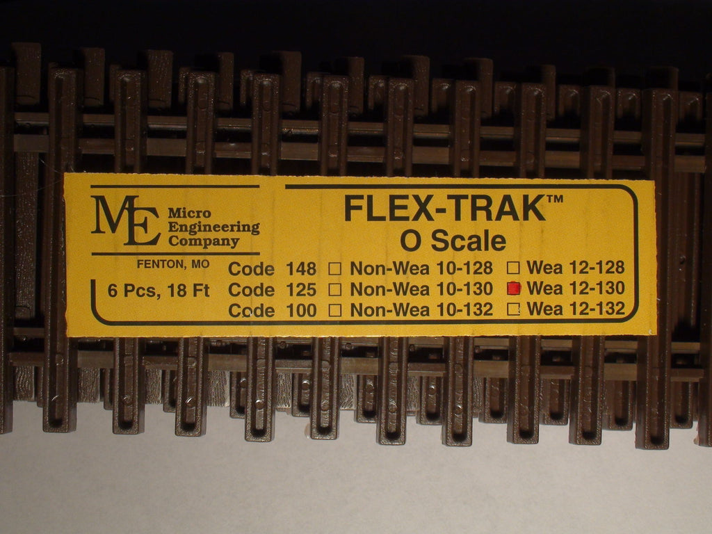 "Micro Engineering 12-130 O Code 125 36"" Weathered Flex-Track (Pack of 6)"