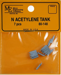 Micro Engineering 80-148 N White Metal Castings Acetylene Tanks (Pack of 21)