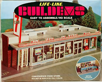 Life Like 01356 HO 7-11 Convenience Store Building Kit