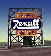 Miller Engineering 338820 N/Z Parker Rexall Drugs Animated Rooftop Billboard