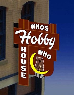 Miller Engineering 441452 HO/N Who's Hobby House Wall-Mount Animated Billboard