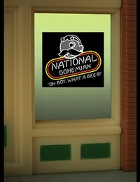 Miller Engineering 8845 HO/O Natty Boh Beer Flashing Neon Window Sign