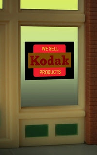 Miller Engineering 8875 HO/O Kodak Flashing Neon Window Sign
