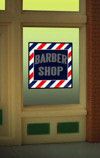 Miller Engineering 8930 HO/O Barber Shop Flashing Neon Window Sign