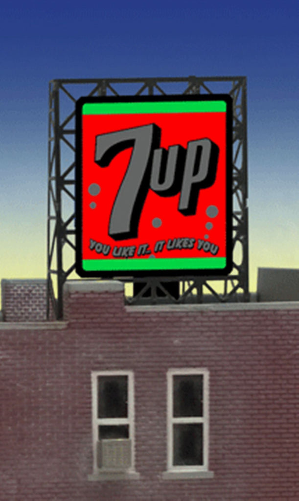 Miller Engineering 338945 N/Z 7Up Rooftop Sign
