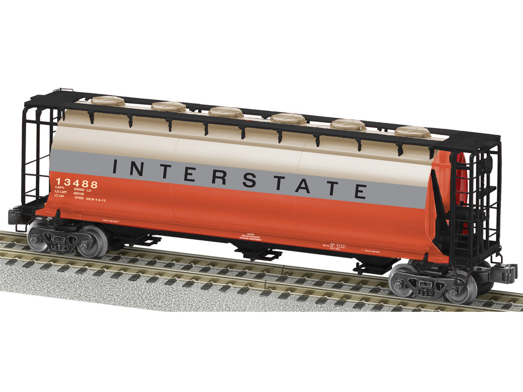 American Flyer 6-48667 Norfolk Southern Interstate Heritage 3-Bay Cylindrical Covered Hopper #13488