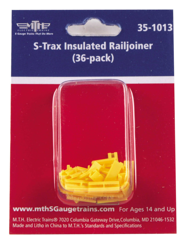 MTH 351013 S Insulated Railjoiner For STrax (Pack of 36)