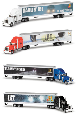 Norscot 58608 HO History Channel Ice Road Truckers Tractor-Trailer Set 4 Semi Tractor