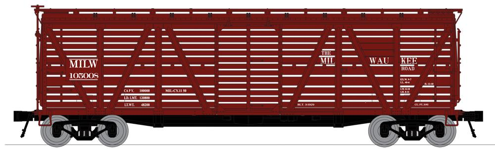 Broadway Limited 3373 N Milwaukee Road PRR K7 Stock Car No Sound (4)