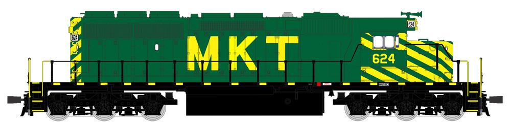 Broadway Limited 4222 HO Missouri-Kansas-Texas EMD SD40-2 Low-Nose #632