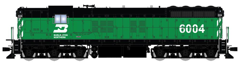 Broadway Limited 4231 HO Burlington Northern EMD SD7 Paragon3™ #6006