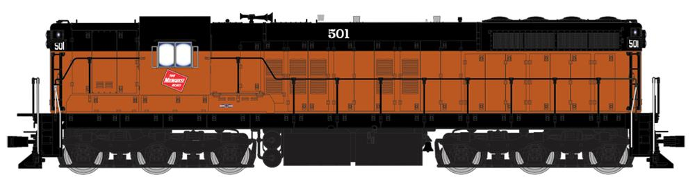 Broadway Limited 4234 HO Milwaukee Road EMD SD7 Paragon3™ #501