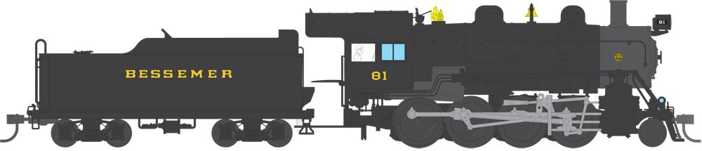 Broadway Limited 4310 HO Bessemer & Lake Erie 2-8-0 Consolidation #81