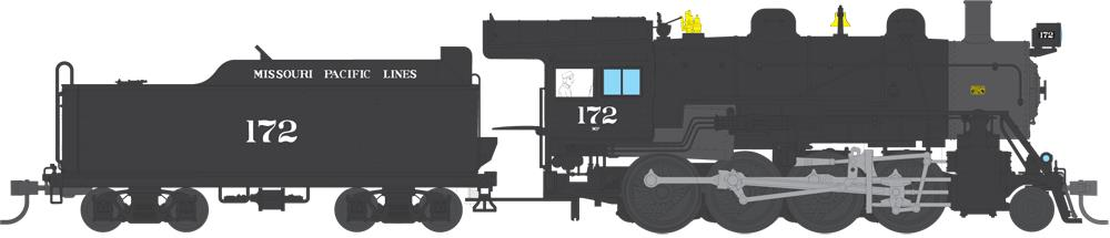 Broadway Limited 4319 HO Missouri Pacific 2-8-0 Consolidation Paragon3™ #172