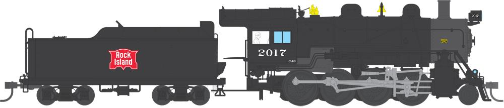 Broadway Limited 4320 HO Rock Island 2-8-0 Consolidation Paragon3™ #2017