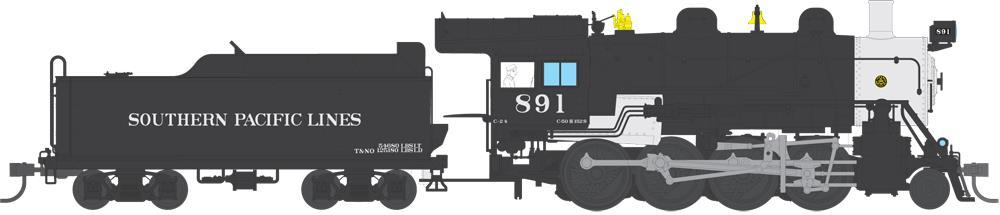 Broadway Limited 4322 Southern Pacific 2-8-0 Consolidation #891 w/DCC, Sound, Smoke