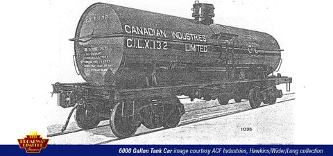 Broadway Limited 6120 HO Canadian Industries ACF Type 6,000-Gallon Tank Car (4)