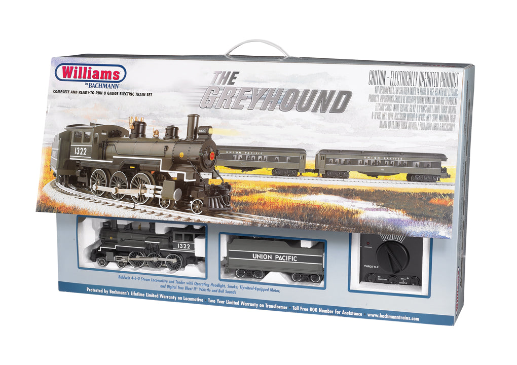 Williams 00325 Union Pacific The Greyhound O Gauge Steam Passenger Train Set