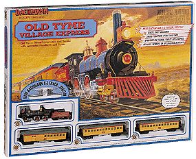 Bachmann 00605 HO Old Tyme Villag Epress Train Set