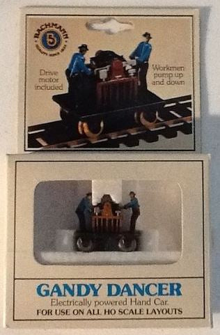 Bachmann 1320 HO Gandy Dancer Electrically Powered Hand Car